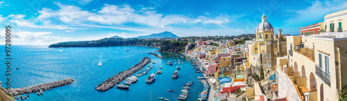 Garden Poster Napels Procida island in Italy