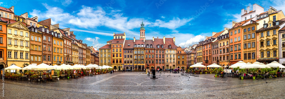 Fototapety, obrazy: Old town square in Warsaw