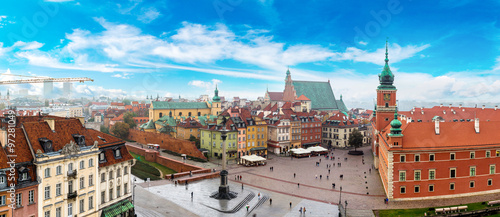 fototapeta na szkło Panoramic view of Warsaw