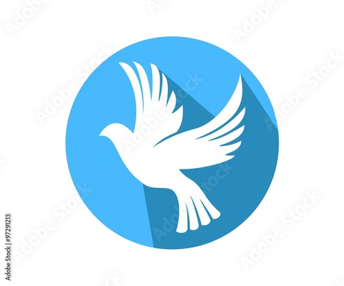 Dove Symbol Peace Love Unity Respect Circle Buy This Stock Vector