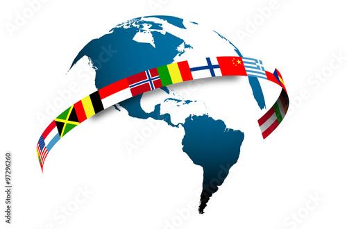 Fotografía  mondo, bandiere, Cina, asia, oriente, ovest, lingue