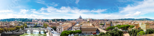 Foto op Plexiglas Rome Rome and Basilica of St. Peter in Vatican