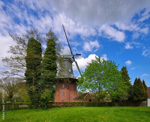 Poster Molens Papenburg Windmuehle - windmill Papenburg 02