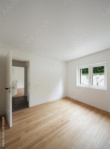 Fototapeta Interior, empty room with window obraz na płótnie