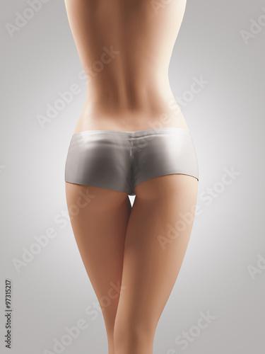 Fotografie, Obraz  Sedere donna gambe slip culotte