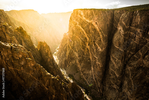 Printed kitchen splashbacks Canyon Black Canyon of the Gunnison National Park