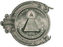 Great Seal, US One Dollar Bill Closeup Macro, 1 Usd Banknote, United States Money Closeup