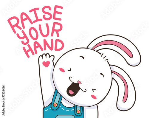 Cute Bunny Raise Your Hand