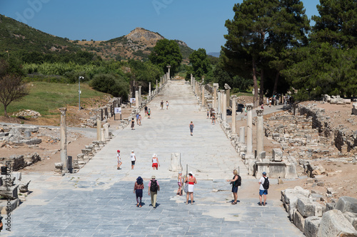 Fotografering  Arcadian Street in Ephesus Ancient City