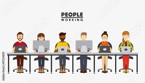 Obraz people working design  - fototapety do salonu