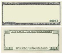 Blank 100 Dollar Banknote Isol...