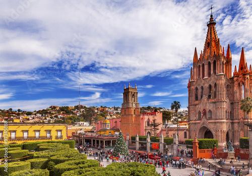 Fototapeta premium Parroquia Jardin Archangel Church San Miguel Meksyk