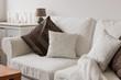 White cosy sofa