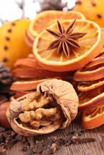Dried Orange, Anise And Walnut