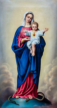 Painting Of Blessed Virgin Mar...