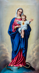 Painting of Blessed Virgin Mary with Baby Jesus