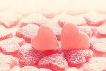 Sugared Candy Hearts For Valentine's Day