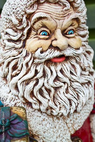 Poster Croquis dessinés à la main des animaux Santa Claus statue