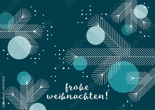 Fototapeta Weihnachtsgruß, geometrisches Design, nachtblau obraz
