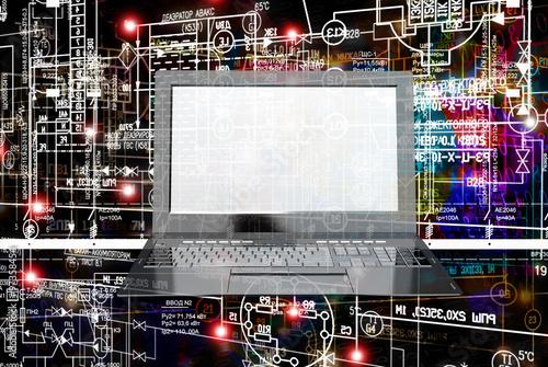 Fotografie, Obraz  Engineering designing.Industrial technology