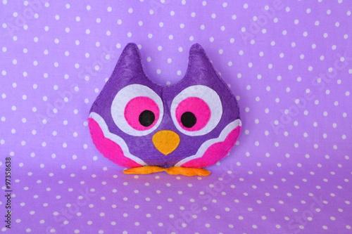 Canvas Prints Owls cartoon Felt owl handmade