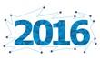 2016 новый год новый календарь лоуполи абстракция