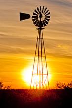 Texas Wind Pump Sunset