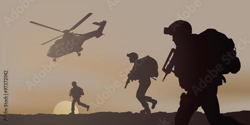 Obraz Commando Heliporte - fototapety do salonu