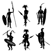 African Tribal Warriors In The...