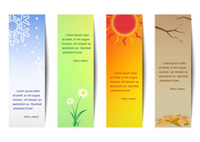 Vertical Bookmark Season