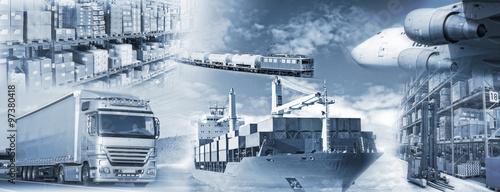 Photo  Logistik mit Transport und Lagerung von Gütern