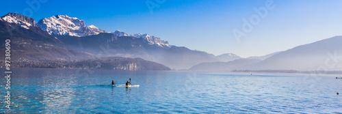 Cadres-photo bureau Lac / Etang Sur le lac d'Annecy