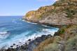 mer houleuse sur la côte sauvage du cap Corse