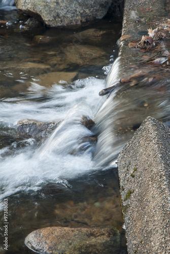 Fotografie, Obraz  Water over small spillway