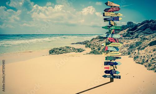 Fotografía  World directions signpost