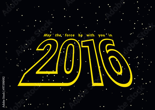 Photo May the force be with you in 2016