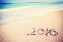 Celebrating 2016 On A Tropical Beach