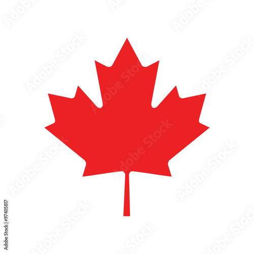 Fototapeta flat icon on white background Maple Leaf