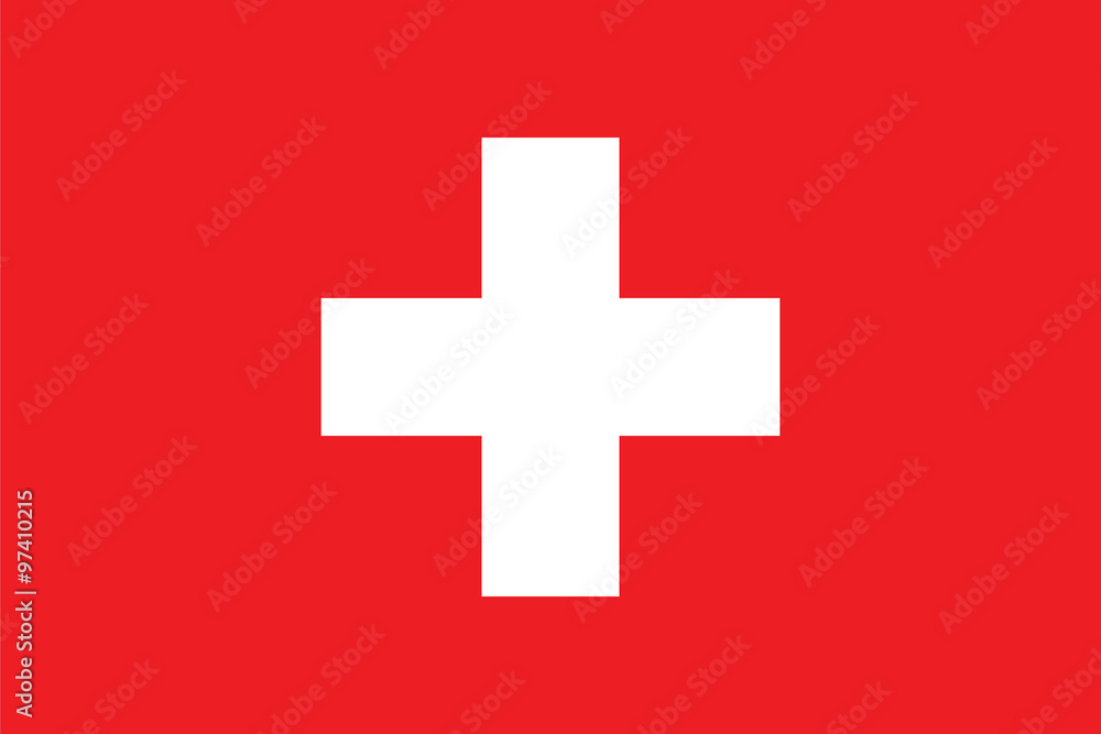 Fototapeta Standard Proportions for Switzerland Flag