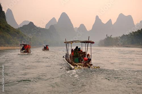 Foto op Aluminium Guilin Landscape in Yangshuo Guilin, China ..