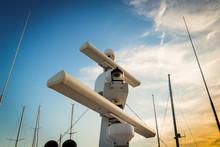 Radar Yacht Against The Sky Be...