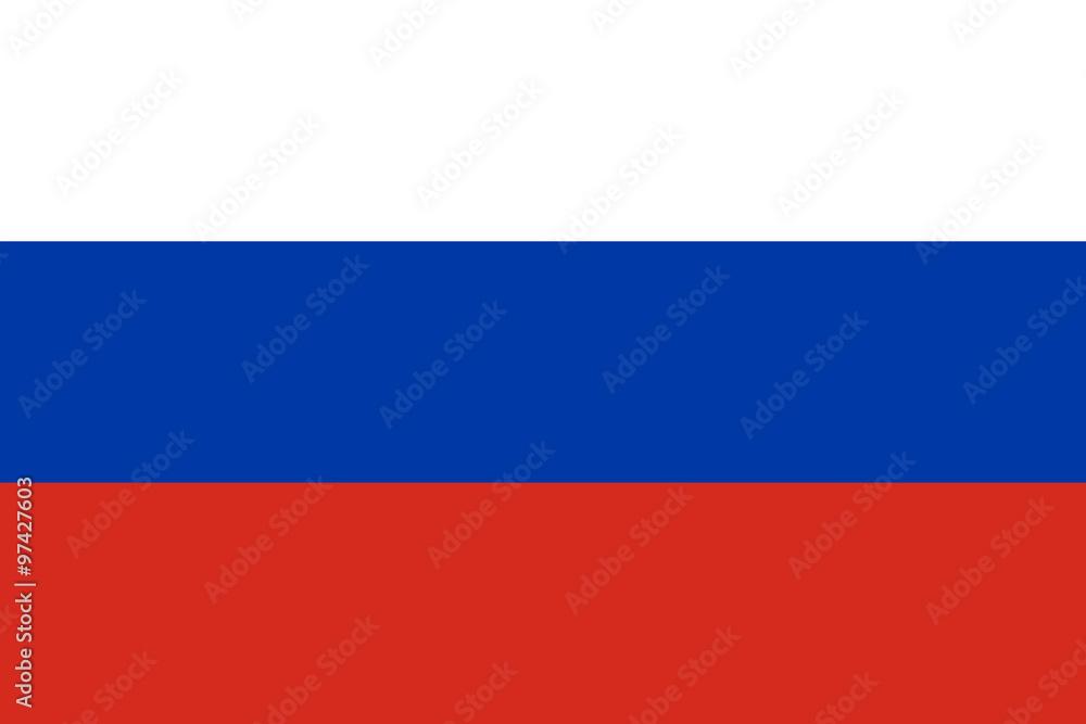 Fototapety, obrazy: Flag of Russia