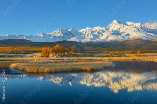 Golden autumn in Altai Canvas Print
