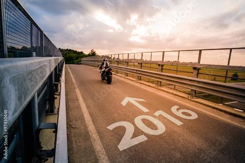 Motorcycle riding in 2016 Slika na platnu