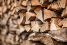 Background Of Heap Firewood St...