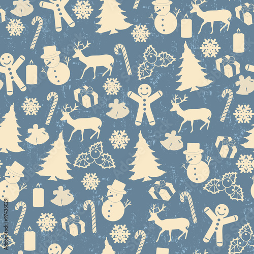 Cotton fabric Seamless pattern for Christmas