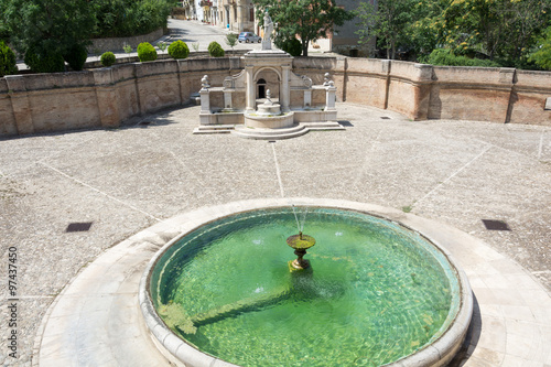 Autocollant pour porte Fontaine Cavallina fountain in Genzano di Lucania. Basilicata. Italy.