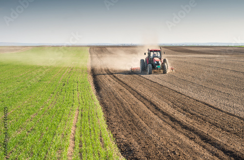 Photo  preparing land for sowing
