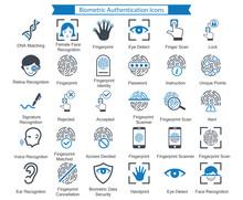 Biometric Authentication Icons