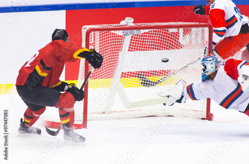 fototapeta na lodówkę Hockey goal